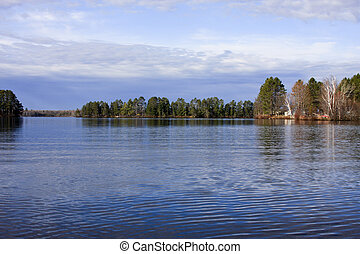 ripples on a northern wisconsin freshwater lake