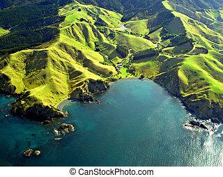 Northland Coastline Aerial, New Zealand