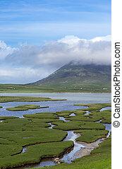Northton saltings on Isle of Harris