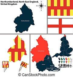 northumberland , ανατολή , βόρεια , αγγλία , uk