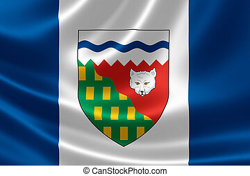 Northwest Territories Flag of Canada - 3D rendering of the...