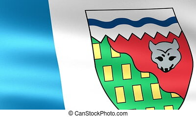 Northwest Territories Flag Waving