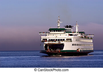 Seattle ferryboat to Bainbridge island in Washington state