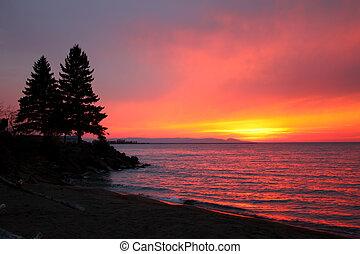Northwoods Lake Superior Sunsest