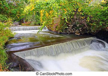 Northwoods Michigan Cascade - Beautiful stream cascade in...