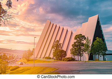 noruega, ártico, catedral, tromso, europa