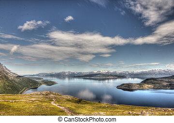 noruega, norteño, paisaje