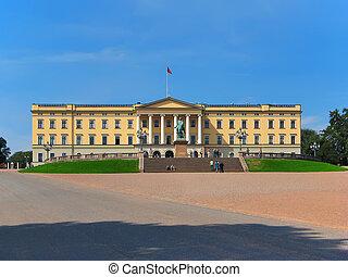 noruega, oslo, palácio, real