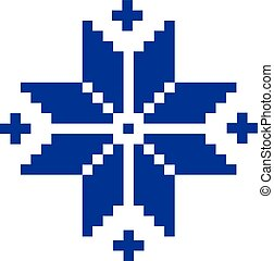 norueguês, padrão, estrela