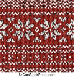 norueguês, vetorial, -, natal, padrão