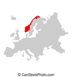 norvège, europe, carte