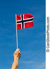 norvège, flag.