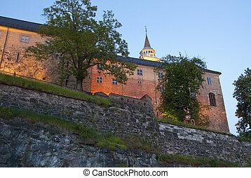 norvège, mai, oslo, détail, parc, 2009