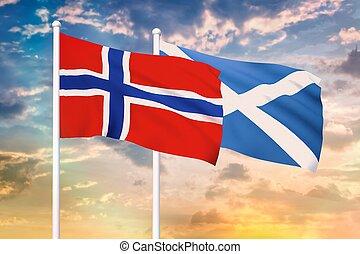 norvège, relation, entre, ecosse