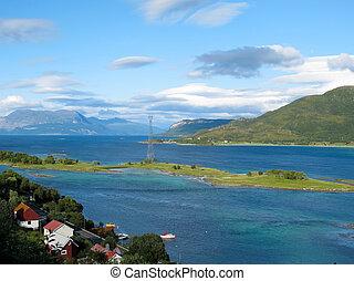norvégia, táj