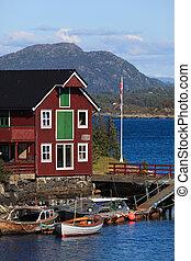 norvegese, boat-house