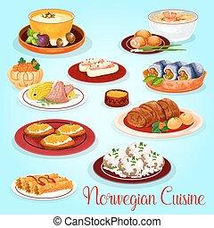 Cucina tedesco menu pranzo disegno icona carne di for Cucina norvegese