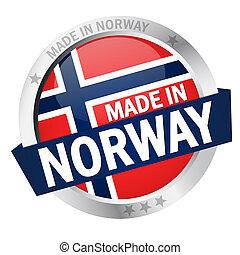 norvegia, bottone, fatto, bandiera