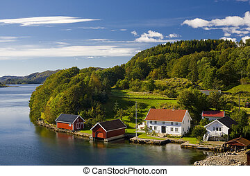 norvegia, meridionale, paesaggio
