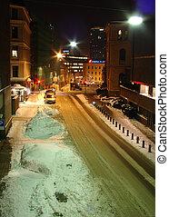 street on winter