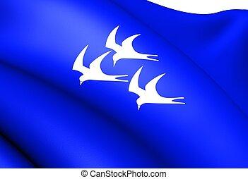 norway., ερυθρόστικτος , σημαία