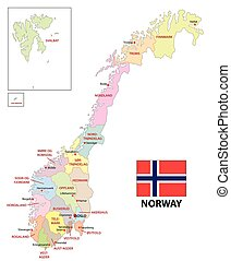 norway administrative map