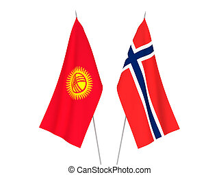 Norway and Kyrgyzstan flags - National fabric flags of ...