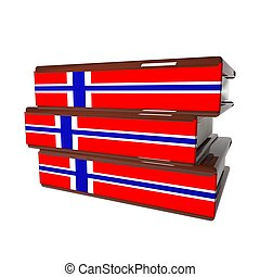 Norway books isolated over white