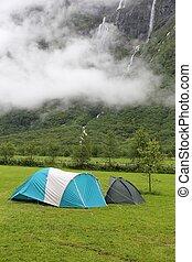 Norway camping adventure