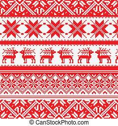 Norway Christmas seamless vector background, Eps 8 image -...