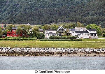 Norway coastal town