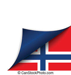 Norway Country Flag Turning Page - Vector - Norway Country...