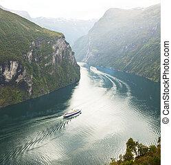 Norway fjord - Geiranger fjord, Norway