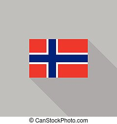 Norway flag flat design vector illustration