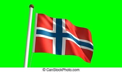 Norway flag (Loop & green screen)