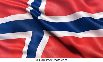 Norway flag seamless loop
