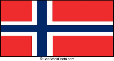 Norway flag vector illustration isolated on background