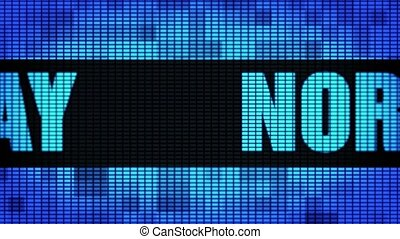 NORWAY Front Text Scrolling LED Wall Pannel Display Sign...