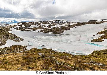 Norway glacier lake