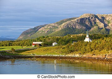 Norway landscape - mountains in Bindal