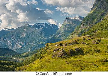 Norway landscape near Geirangerfjord