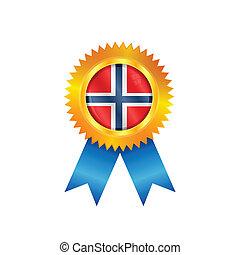 Norway medal flag