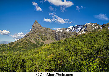 Picturesque mountains in Norway near Narvik