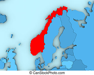 Norway on 3D map