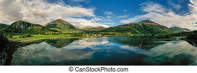 norway., panorama, natur, schöne