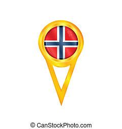 Norway pin flag