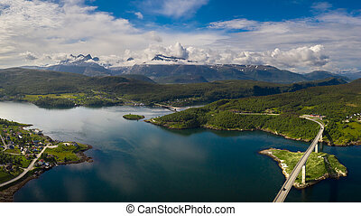 norway., schöne , panorama, natur