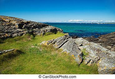 norway sea meer nature water blue sky