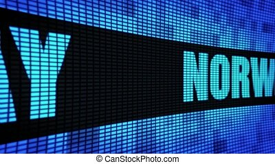 NORWAY side Text Scrolling LED Wall Pannel Display Sign...