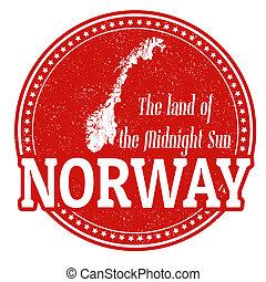 Norway stamp - Vintage stamp with world Norway written...